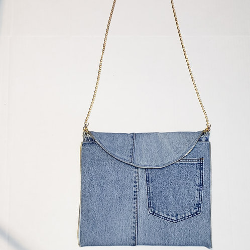 Denim Crossbody Clutch
