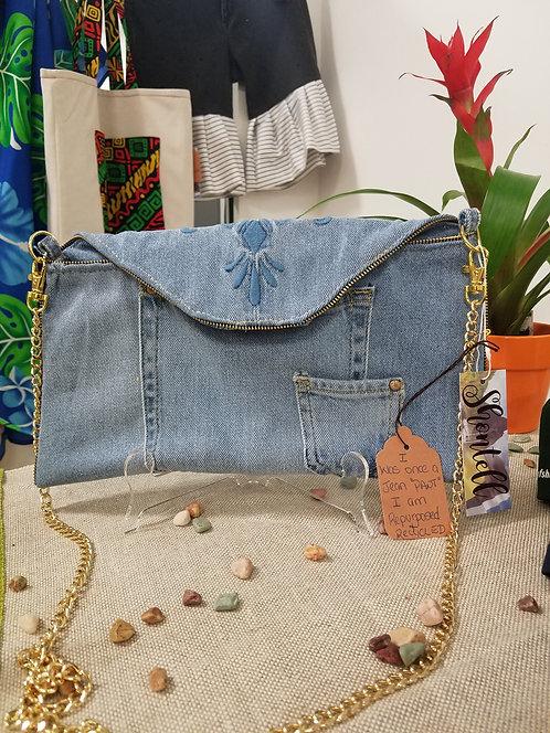 Light Blue Denim Cross-Body Bag