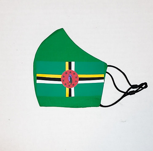 Dominica Flag Protective Mask