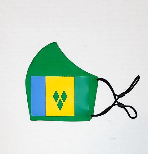 St.Vincent & The Grenadines Flag Protective Mask