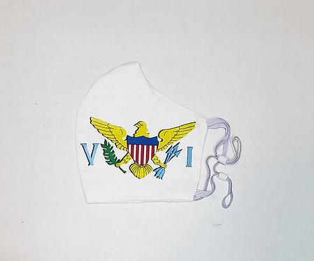 USVI Flag Protective Mask