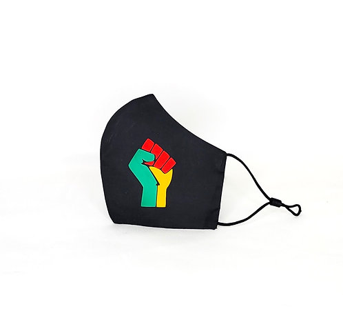 Black Power Fist (Ice,Green,Gold)