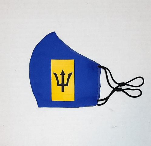 Barbados Flag Protective Mask