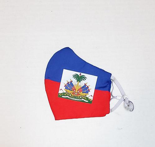 Haiti Flag Protective Mask
