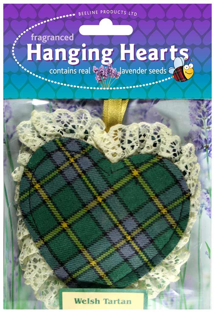 Welsh Tartan Hanging Heart