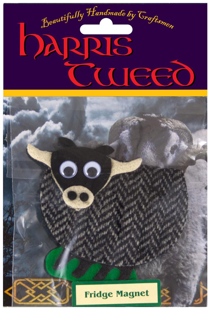 Harris Tweed Bull Fridge Magnet