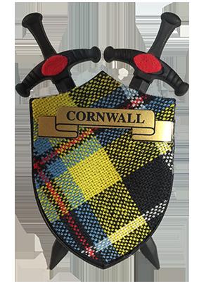 Cornish Tartan Sword Magnet