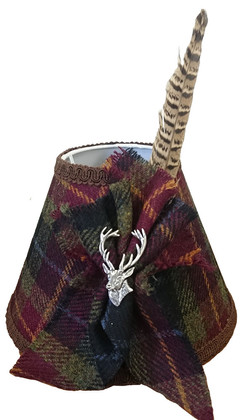 CODE HT20 Harris Tweed Lampshade with Feather