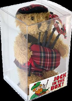 Jock in a Box with Sparkie Teddy
