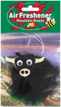 Welsh Air Freshener Black cow