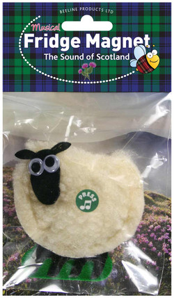 Scottish Sheep Musical Fridge Magnet