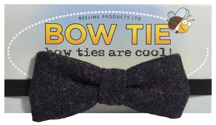 Blue Tweed Bowtie