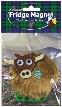 Highland Cow Musical Fridge Magnet