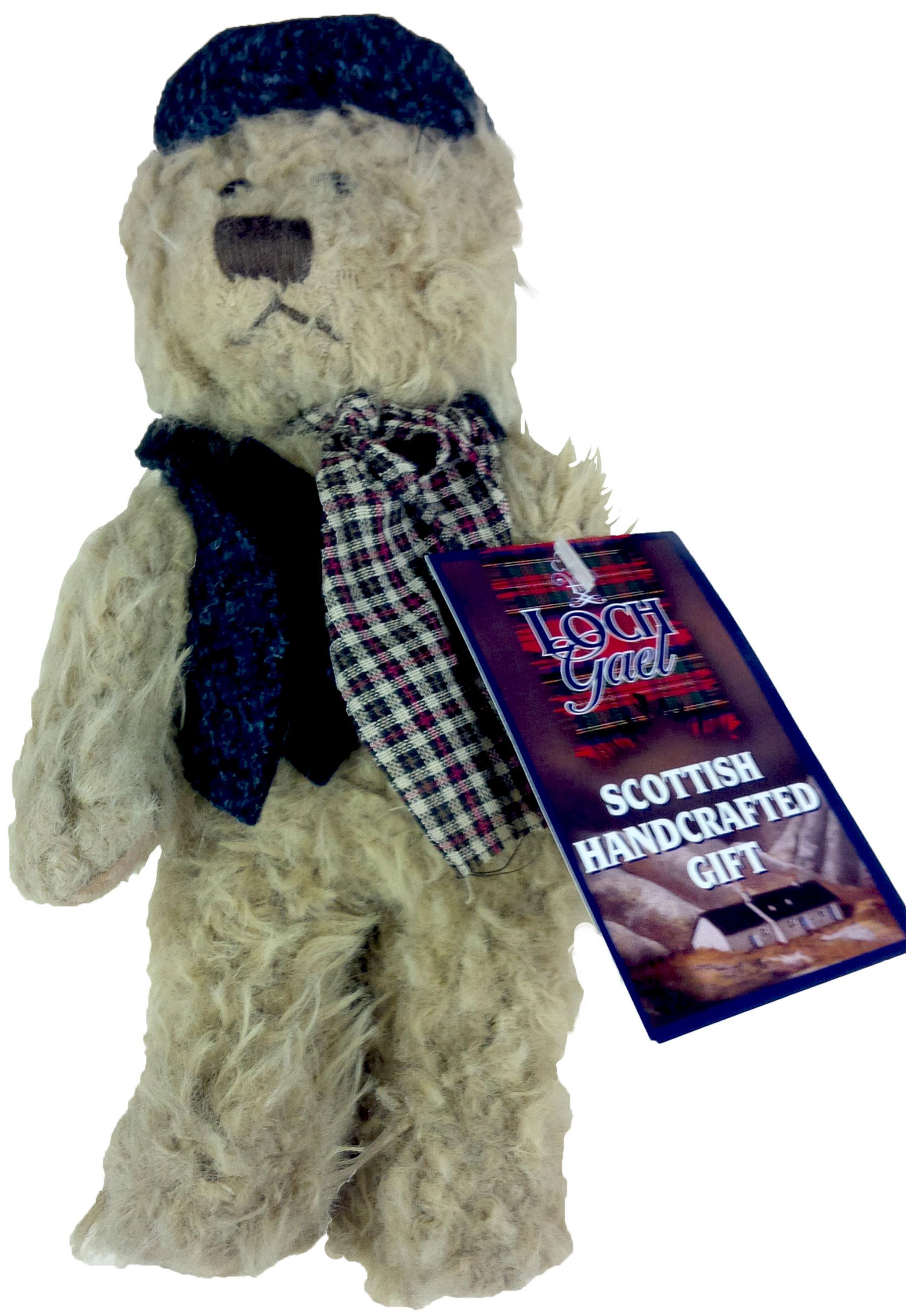 CODE HT16 8inch Harris Tweed Windsor Teddy with Scarf