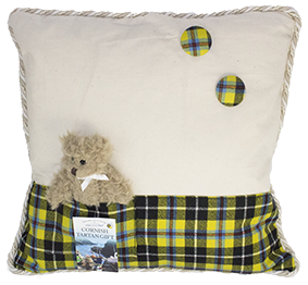 02 Cornish Tartan Cushion with Teddy