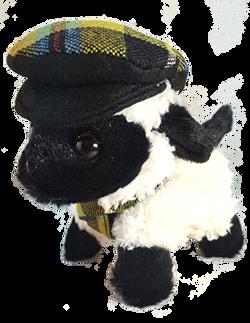 Cornish Tartan Sheep with scarf