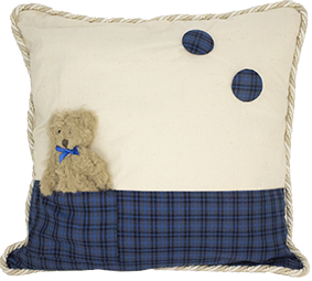 01 Tartan Cushion with Teddy