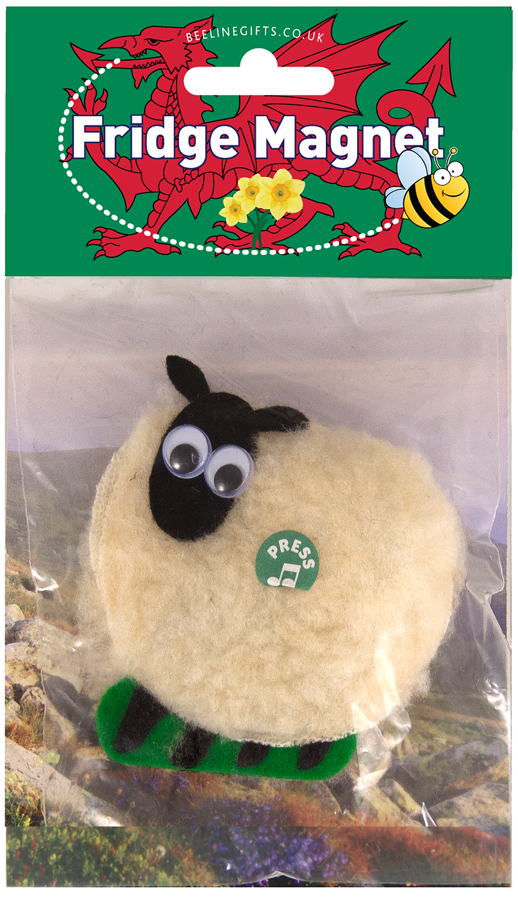 Welsh Fridge Magnet Musical Sheep