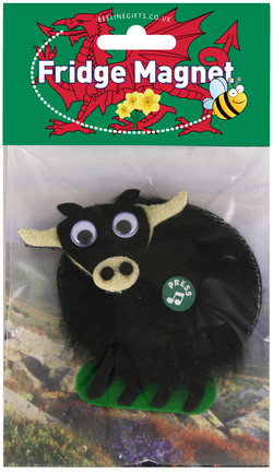 Welsh Fridge Magnet Black cow