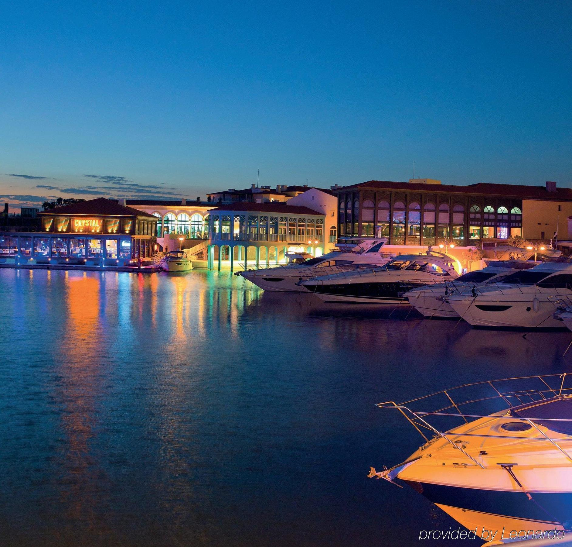 limassol marina by night