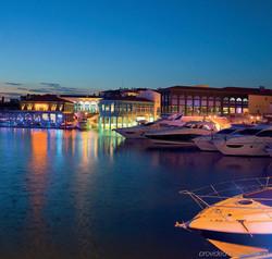 limassol marina by night