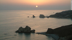 petra tou romiou sunset
