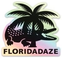 Reflective Croc Logo Sticker
