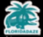 Florida Daze Croc Logo Sticker - Teal .p
