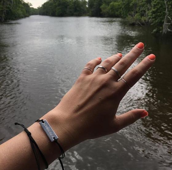 Marisa Dzintars hand model for So Rah Jewelry