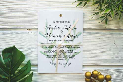 Invitație de nuntă cod 1805