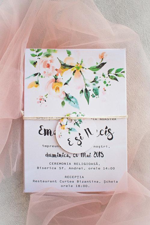 Invitație de nuntă cod 1804