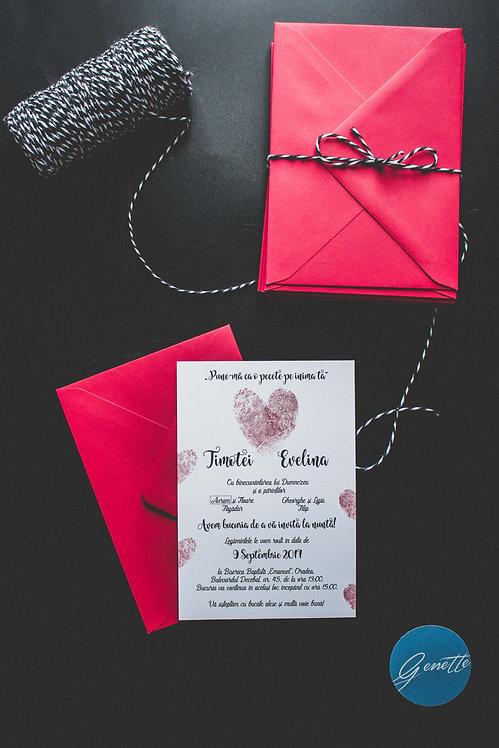 Invitație de nuntă cod 1809