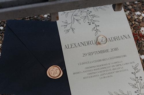 Invitație de nuntă cod 1803