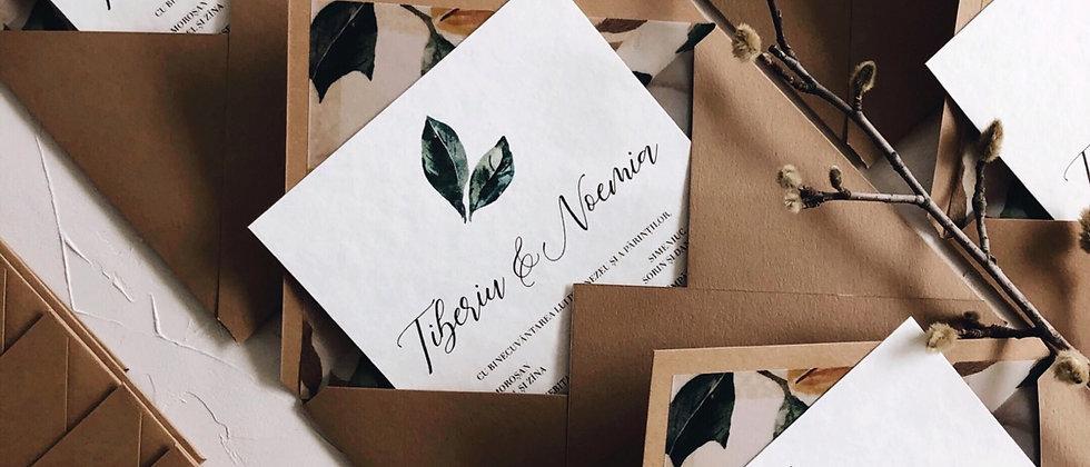 Invitație de nuntă Magnolia cod 20-11