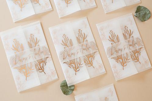 Invitație de nuntă Rose Gold cod 20-22