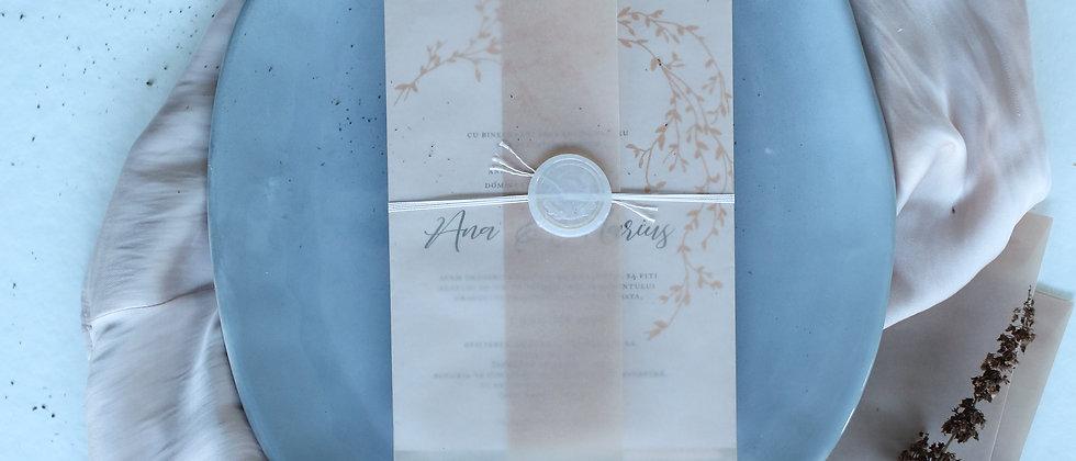 Invitație de nuntă Chloe cod 20-02