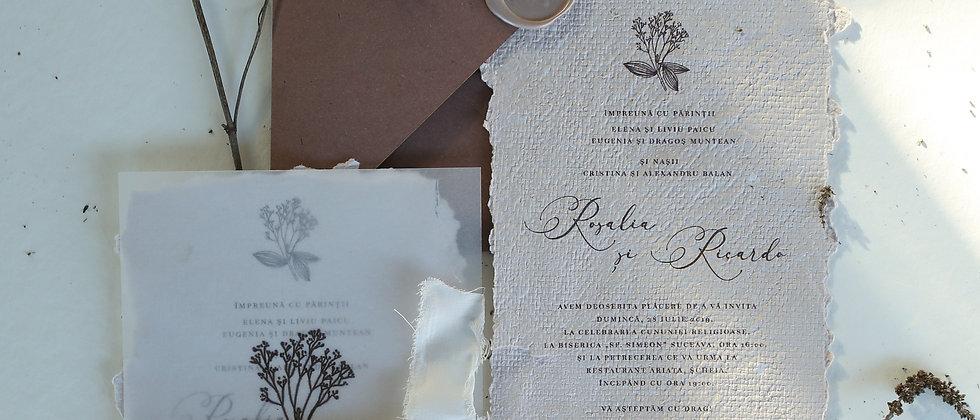 Invitație de nuntă Natalie cod 20-06