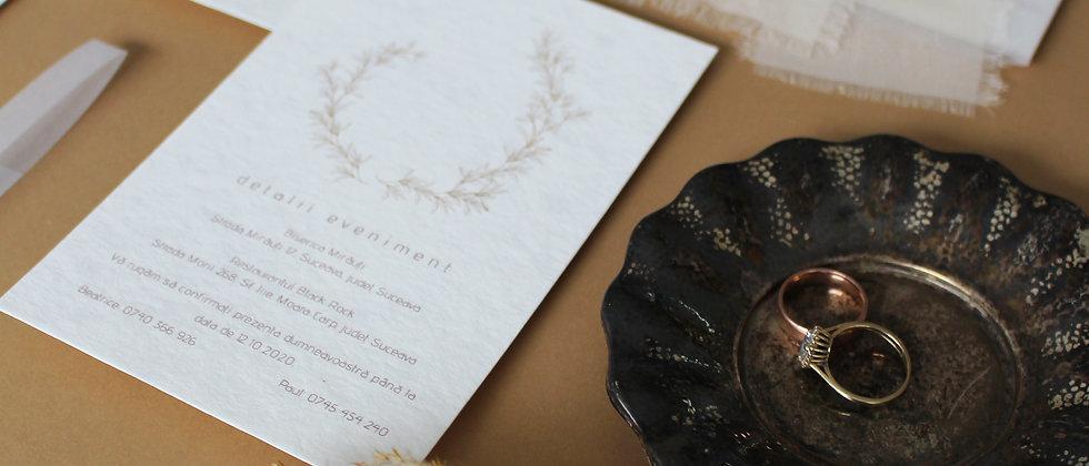 Invitație de nuntă Wreath cod 21-02