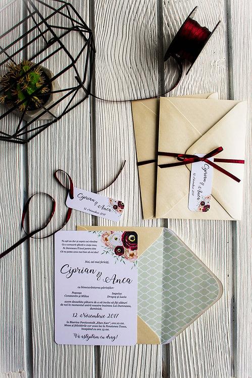 Invitație de nuntă cod 1714