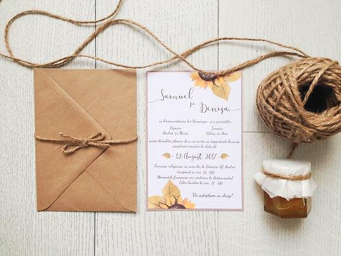 Invitație de nuntă cod 1706