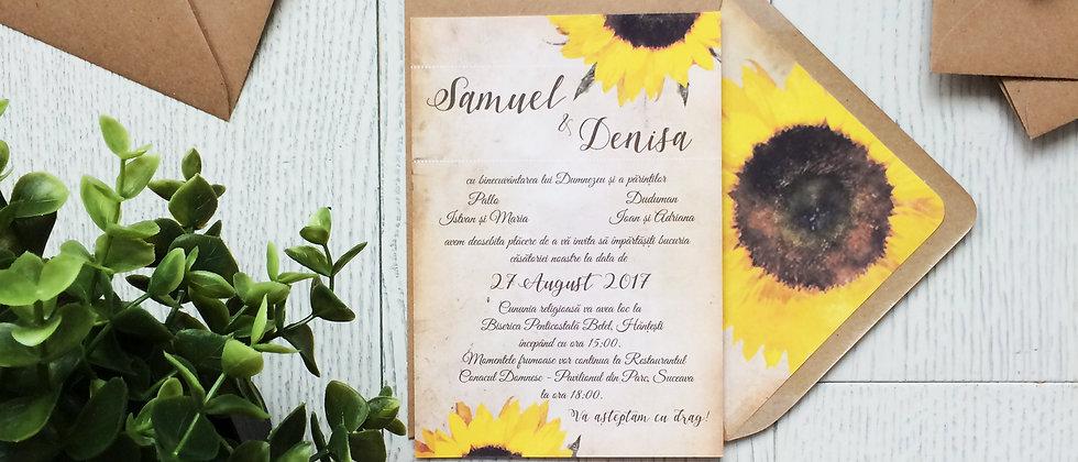 Invitație de nuntă cod 1716
