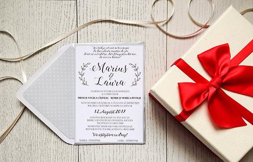 Invitație de nuntă cod 1708