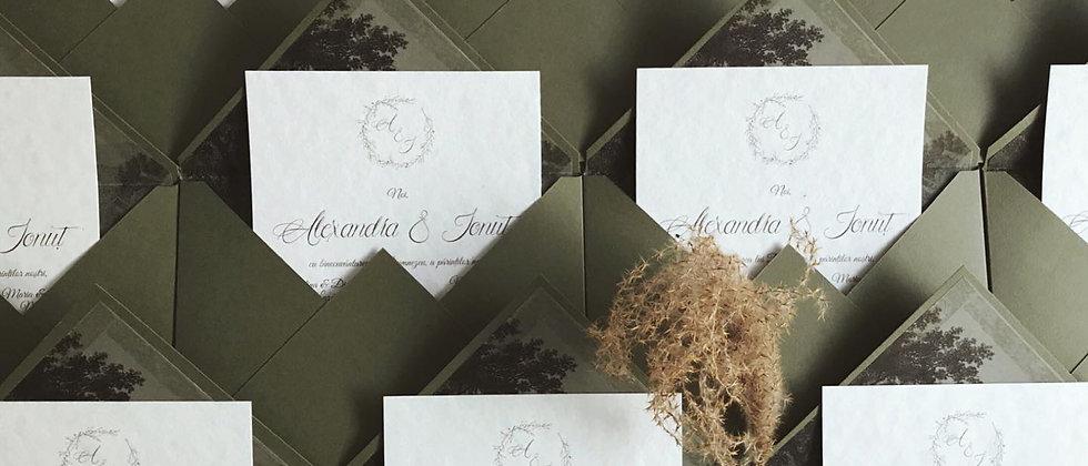 Invitație de nuntă Forest cod 20-17