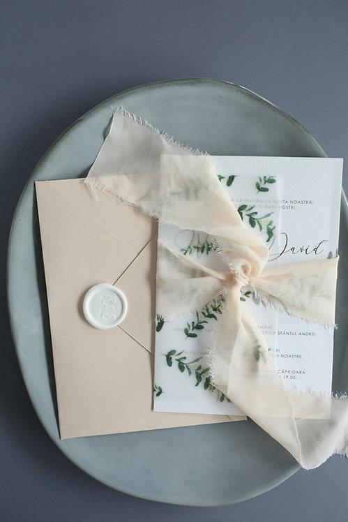 Invitație de nuntă Rosie cod 20-07