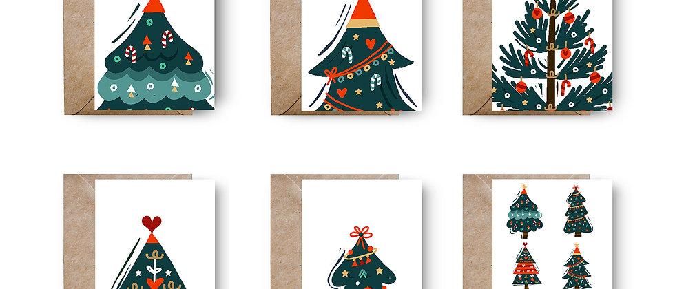 Set de 6 Felicitări de Crăciun cod 96
