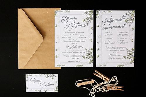 Invitație de nuntă cod 1606