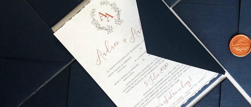 Invitație de nuntă Royal cod 20-21