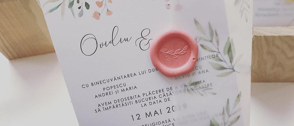 Invitație de nuntă cod 1912