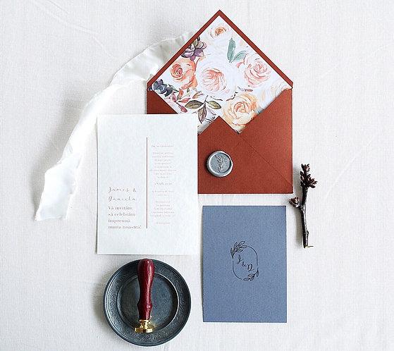 Invitație de nuntă Jessie cod 20-10