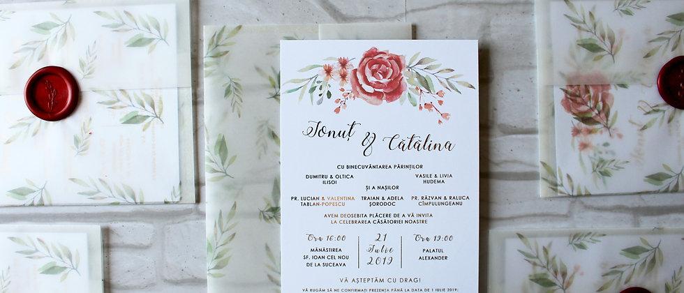 Invitație de nuntă cod 1917